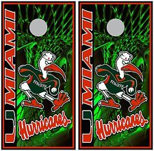 Miami Hurricanes 0224 custom cornhole board vinyl wraps stickers posters decals