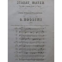 ROSSINI G. Stabat Mater No 1 Chant Piano ca1840 partition sheet music score