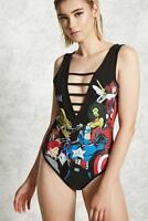 FOREVER 21 Black  Marvel Superheroes Bodysuit Small S
