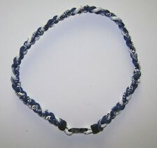 "Indianapolis Colts,Kentucky Wildcats,3 Rope Para Necklace-Titanium 22""Blue,White"