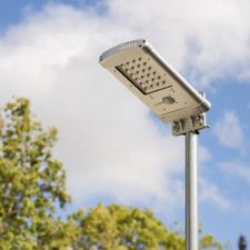 Lampione stradale solare lampioncino da giardino per esterno luce calda fredda