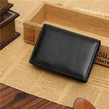 Men Black Leather Wallet Bifold ID Credit Card Holder Purse Mini Money Clip Slim
