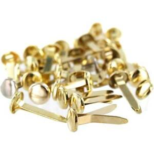Split Pins Paper Fasteners Butterfly Clips Ideal for Arts & Crafts Brass/Gold