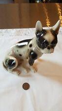 Rare Vintage KERAMOS Vienna AUSTRIA Sitting Boston Terrier  Figurine Dog