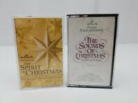Hallmark Christmas Cassette Tapes Lot Spirit of Christmas & Sounds of Christmas
