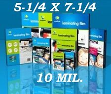 5 X 7 Ultra Clear 5.25 x 7.25 10 Mil Laminating Pouches Sheets Photo 50 PK  CQ