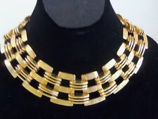 Vintage Signed Monet Massive Heavy Couture Runway Choker necklace rare