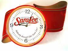 Original Sara Lee Red Ribbon Premium Deli Advertising Clock New Old Stock