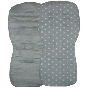 Reversible - Seat Liners to fit SX Reflex, Pop or Zest pushchairs - Grey Designs