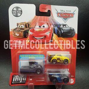 DISNEY PIXAR CARS MINI RACERS GALE BEAUFORT GEORGE NEW-WIN NEXT GEN 3 PACK $15+