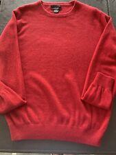Mens Red Crew Neck Cezani 100 Percent Cashmere Sweater
