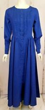 """""""Sass Cowboy"""", """"Old West"""" Pioneer Dress, Brand New Size Large Blue Print"""