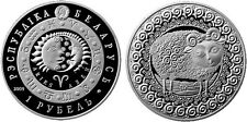 Weißrussland 1 Rubel 2009  Sternzeichen Widder  stempelglanz