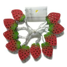 Decorative Metal Strawberry Fairy Night Mood String Light Romantic Lamp Home