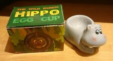 Delightful Grey Ceramic Hippo Egg Cup The Wild Bunch Some Minor Imperfections