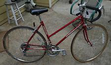 "1984 SCHWINN Ladies World Sport W59 19"" Royal Maroon Road Bike Suntour Shimano"