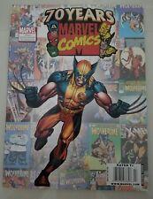 MARVEL COMICS 70TH ANNIVERSARY CELEBRATION MAGAZINE 2009 WOLVERINE COVER ART!