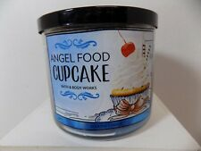 Bath and Body Works Angel Food Cupcake 3 Wick Candle -Cake, Vanilla Whipped Crm