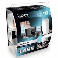 AMPOULE H3 12V 55W Lunex Blue White 3700K Blanc bleu lumière SET