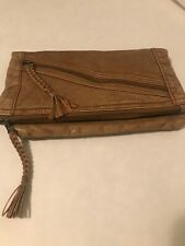 Converse One Star Brown Clutch Purse Bag Wallet Zipper Soft Faux Leather