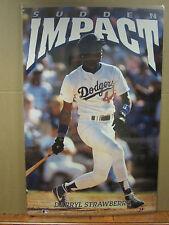 vintage baseball Darryl Straberry MLB poster  original Sudden Impact 1991  1961