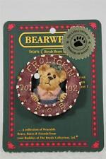 Boyds Lapel Pin 'Frolickin F.O.B.-2002' Adorable bear #02002-11 New!
