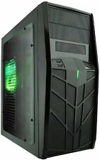 Mid Tower Case w/ Green LED Mid Range custom gaming pc build component chassis
