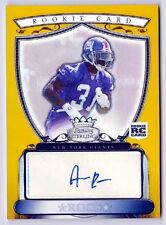 Aaron Ross 2007  Bowman Sterling Gold Refractor AUTOGRAPH Giants Rc #d /1800