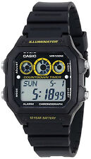 Casio AE-1300WH-1AV World Time 5 Alarms Watch 10 Year Battery 9 Timers New