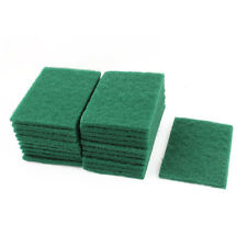Sponge Kitchen Bowl Dishwash Clean Scrub Cleansing Pads 20pcs Green