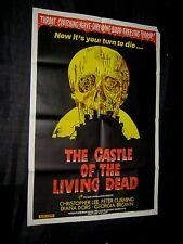 Original CASTLE OF THE LIVING DEAD Australian South Pacific Style 1 SHEET L@@K!!
