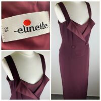 Elinette Purple Button Front Strappy Elegent Dress Size Eur 36