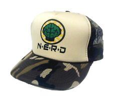 NEW NERD NEPTUNES TRUCKER HAT CAP Camo camouflage light green front