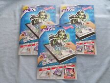 Lot Of 3 - Monster High Color Alive Coloring Book & Crayons - 2016 Hallmark