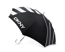 Authentic DKNY DONNA KARAN NEW YORK black white logo jumbo large UMBRELLA clear