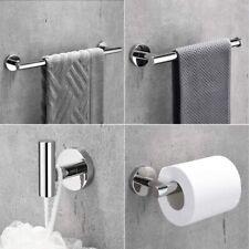 Chrome Polished 4 PCs Bathroom Hardware Set Bath Accessory Towel Bar US Stock