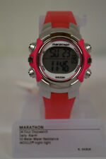 NEW Woman's Marathon by Timex Mid-Size Watch Pink/Silver-Tone