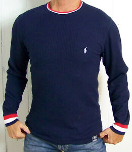 mens - POLO RALPH LAUREN shirt - M - SLEEPWEAR - THERMAL - WAFFLE - Cotton Blend