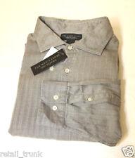 The Men's Store Bloomingdale's Men's Flannel Shirt, Gray