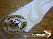 #14 WHITE WHITING 100's PACK DRY FLY SADDLE HACKLE FEATHERS WHITING FARMS NEW