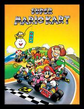 SUPER Mario Kart Retro-incorniciato 30 x 40 Stampa Ufficiale