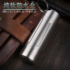 8cm Length Waterproof Medicine Pill Box Case Bottle Holder Container Keychain
