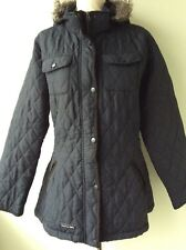 TRESPASS ladies black quilted lightweight winter jacket size 14/16 large
