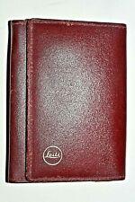 Leica Leather Address Book, Vintage 1984