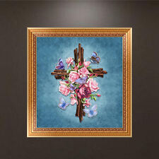5D Religious Diamond Flower Embroidery Painting Home Wall Decor DIY Cross Stitch