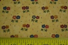 By 1/2 Yd, Floral on Tan, Quilting, Kansas Troubles Quilters, Moda, M7087