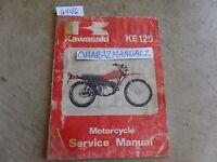 1979 1980 Kawasaki KE125 Service Manual OEM