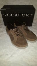 Rockport Men's City Edge Lace Up Sneaker Taupe Nubuck Sneakers