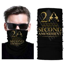 2nd Amendment USA Flag Face Bandanas Multifunctional Headwear Mask Neck Gaiter