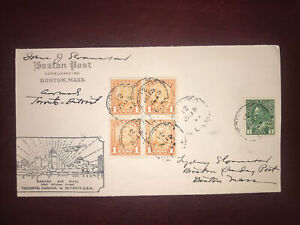 1929 AAMC 231c, # 149 Bloc Of 4 Scroll Issue & #104 On FFC Toronto To Detroit